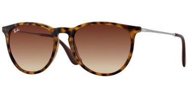 Sunglasses - Ray-Ban® - Ray-Ban® RB4171 ERIKA - 865/13 RUBBER HAVANA // BROWN GRADIENT