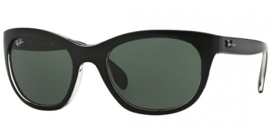 Gafas de Sol - Ray-Ban® - Ray-Ban® RB4216 - 605271 TOP MATTE BLACK ON TRANSPARENT // GREEN