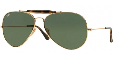 Gafas de Sol - Ray-Ban® - Ray-Ban® RB3029 OUTDOORSMAN II - 181 GOLD // DARK GREEN