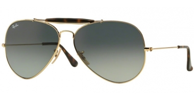 Gafas de Sol - Ray-Ban® - Ray-Ban® RB3029 OUTDOORSMAN II - 181/71 GOLD // LIGHT GREY GRADIENT DARK GREY