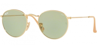 Sunglasses - Ray-Ban® - Ray-Ban® RB3447 ROUND METAL - 90644C GOLD // POTHOCROMIC GREEN