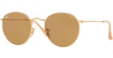 Sunglasses - Ray-Ban® - Ray-Ban® RB3447 ROUND METAL - 90644I GOLD // POTHOCROMIC BROWN