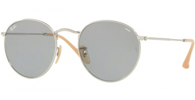 Sunglasses - Ray-Ban® - Ray-Ban® RB3447 ROUND METAL - 9065I5 SILVER // PHOTOCROMIC BLUE