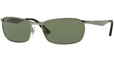 Sunglasses - Ray-Ban® - Ray-Ban® RB3534 ACTIVE LIFESTYLE - 004/58 GUNMETAL // GREEN POLARIZED