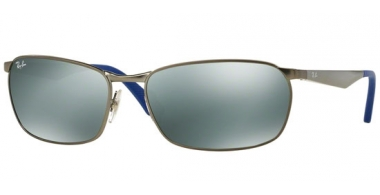 Sunglasses - Ray-Ban® - Ray-Ban® RB3534 ACTIVE LIFESTYLE - 029/40 MATTE GUNMETAL // GREEN MIRROR SILVER