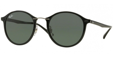 Gafas de Sol - Ray-Ban® - Ray-Ban® RB4242 ROUND II LIGHT RAY - 601/71 BLACK // GREY GREEN