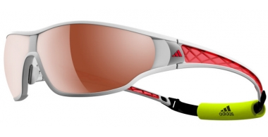 Sunglasses - Adidas - A189 TYCANE PRO L - 6052 SHINY WHITE RED // LST™ POLARIZED SILVER H+