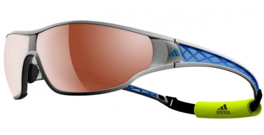 Sunglasses - Adidas - A189 TYCANE PRO L - 6053 SILVERMET BLUE // LST™ POLARIZED SILVER H+