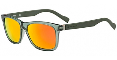 Gafas de Sol - Boss Orange - BO 0117/S - 1QJ (UZ) TRANSPARENT GREEN GREEN // RED MIRROR