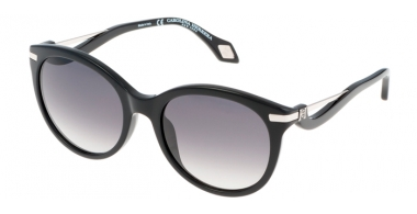 Sunglasses - Carolina Herrera New York - SHN546M - 700X SHINY BLACK // GREY GRADIENT