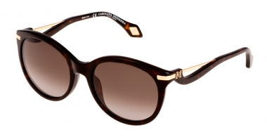 Sunglasses - Carolina Herrera New York - SHN546M - 0722 SHINY DARK HAVANA // GREY GRADIENT
