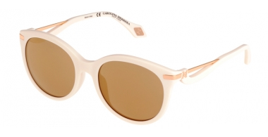 Sunglasses - Carolina Herrera New York - SHN546M - 9MTG SHINY IVORY // BROWN MIRROR GOLD