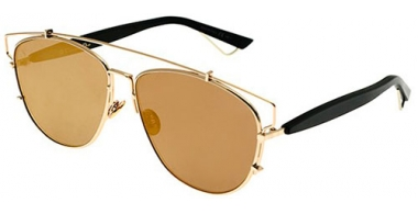 Sunglasses - Dior - DIORTECHNOLOGIC - RHL (83) GOLD BLACK // GOLD MIRROR