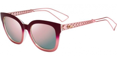 Sunglasses - Dior - DIORAMA1 - 2IF (0J) MATTE BURGUNDY CRYSTAL // GREY ROSE GOLD MIRROR