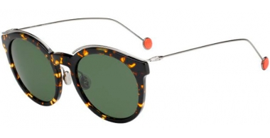 Sunglasses - Dior - DIORBLOSSOM - 0M7 (85) HAVANA RUTHENIUM // GREY GREEN