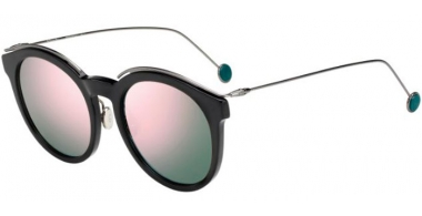 Sunglasses - Dior - DIORBLOSSOM - ANS (0J) BLACK DARK RUTHENIUM // GREY ROSE GOLD MIRROR