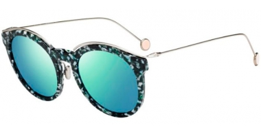 Sunglasses - Dior - DIORBLOSSOM - YE6 (3J) PETROL GREEN PALADIUM // BLUE GREEN MIRROR