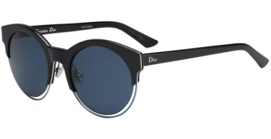 Sunglasses - Dior - DIORSIDERAL1 - RLT (KU) BLACK BLUE // BLUE GREY