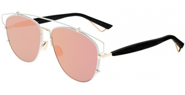 Sunglasses - Dior - DIORTECHNOLOGIC - XG9 (AP) WHITE BLACK // ROSE GREY MIRROR