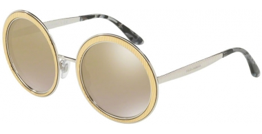 Gafas de Sol - Dolce & Gabbana - DG2179 - 13136E GOLD // LIGHT BROWN MIRROR GOLD