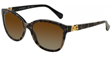 Gafas de Sol - Dolce & Gabbana - DG4258 - 1995T5 LEO ON BLACK // BROWN GRADIENT POLARIZED