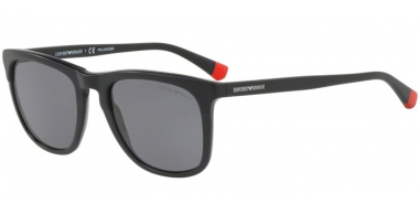 Gafas de Sol - Emporio Armani - EA4105 - 500181 MATTE BLACK ON BLACK // GREY POLARIZED