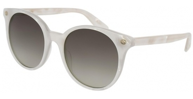 Gafas de Sol - Gucci - GG0091S - 004 WHITE // BROWN GRADIENT