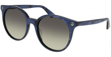 Gafas de Sol - Gucci - GG0091S - 005 GLITTER BLUE // BROWN GRADIENT