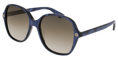 Gafas de Sol - Gucci - GG0092S - 005 GLITTER BLUE // BROWN GRADIENT