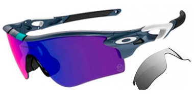 Gafas de Sol - Oakley - RADARLOCK PATH OO9181 - 9181-29 POLISHED FOG // RED IRIDIUM + BLACK IRIDIUM