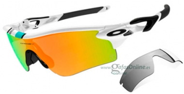 Gafas de Sol - Oakley - RADARLOCK PATH OO9181 - 9181-30 POLISHED WHITE // FIRE IRIDIUM + BLACK IRIDIUM