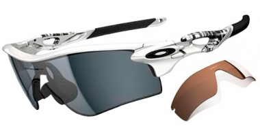 Gafas de Sol - Oakley - RADARLOCK PATH OO9181 - 9181-20 MATTE WHITE // GREY POLARIZED + VR28 BLACK IRIDIUM