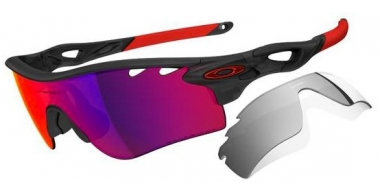 Gafas de Sol - Oakley - RADARLOCK PATH OO9181 - 9181-23 MATTE BLACK INK // OO RED POLARIZED VENTED + BLACK IRIDIUM VENTED