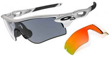 Gafas de Sol - Oakley - RADARLOCK PATH OO9181 - 9181-C02 POLISHED WHITE SLATE IRIDIUM + FIRE IRIDIUM