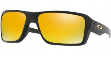 Sunglasses - Oakley - DOUBLE EDGE OO9380 - 9380-02 POLISHED BLACK // 24K IRIDIUM
