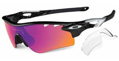 Gafas de Sol - Oakley - RADARLOCK PATH OO9181 - 9181-41 POLISHED BLACK // PRIZM TRAIL + CLEAR VENTED