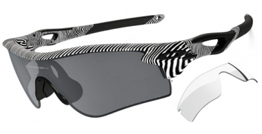 Gafas de Sol - Oakley - RADARLOCK PATH OO9181 - 9181-44 FINGERPRINT POLISHED WHITE // BLACK IRIDIUM POLARIZED + CLEAR