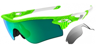 Gafas de Sol - Oakley - RADARLOCK PATH OO9181 - 9181-47 FINGERPRINT RETINA BURN  // JADE IRIDIUM  BLACK IRIDIUM