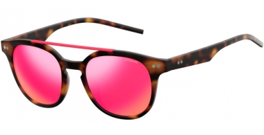 Sunglasses - Polaroid - PLD 1023/S - 202 (AI) BROWN HAVANA // GREY PINK MIRROR POLARIZED