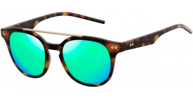 Sunglasses - Polaroid - PLD 1023/S - 202 (K7) BROWN HAVANA // GREEN MIRROR POLARIZED