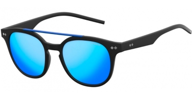 Sunglasses - Polaroid - PLD 1023/S - DL5 (JY) MATTE BLACK // GREY BLUE MIRROR POLARIZED