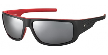 Sunglasses - Polaroid Sport - PLD 7006/S - VRA (JB) BLACK RED // GREY SILVER MIRROR POLARIZED