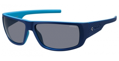 Sunglasses - Polaroid Sport - PLD 7006/S - ZX9 (C3) BLUE AZURE // GREY POLARIZED