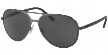 Sunglasses - POLO Ralph Lauren - PH3102 - 918787 MATTE DARK GUNMETAL // GREY