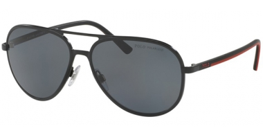 Sunglasses - POLO Ralph Lauren - PH3102 - 926781 SEMISHINY BLACK // DARK GREY POLARIZED