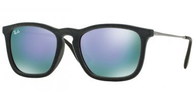 Gafas de Sol - Ray-Ban® - Ray-Ban® RB4187 CHRIS - 60774V FLOCK GREY // GREY MIRROR VIOLET
