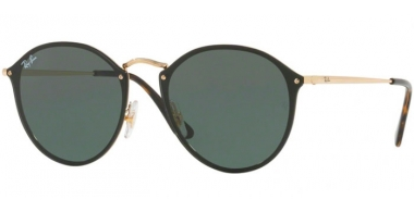 Sunglasses - Ray-Ban® - Ray-Ban® RB3574N BLAZE ROUND - 001/71 ARISTA // GREEN