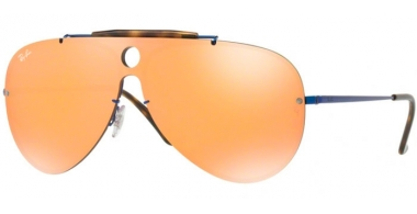 Gafas de Sol - Ray-Ban® - Ray-Ban® RB3581N BLAZE SHOOTER - 90387J BLUE // DARK ORANGE MIRROR GOLD