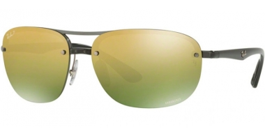Gafas de Sol - Ray-Ban® - Ray-Ban® RB4275CH - 876/6O SHINY GREY // GREEN MIRROR GOLD GRADIENT POLARIZED