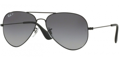 Sunglasses - Ray-Ban® - Ray-Ban® RB3558 - 002/T3 BLACK // GREY GRADIENT POLARIZED